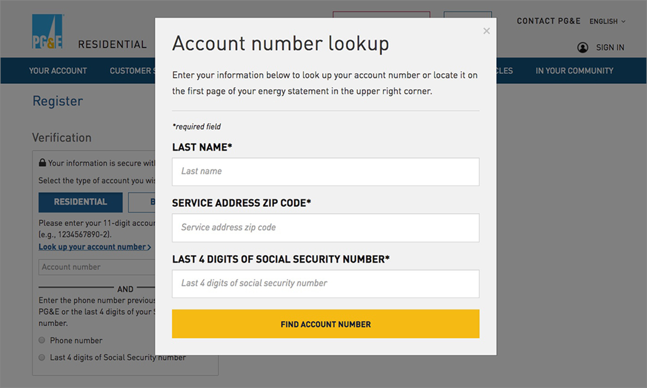 Where can I find my account number? – PG&E Help Center